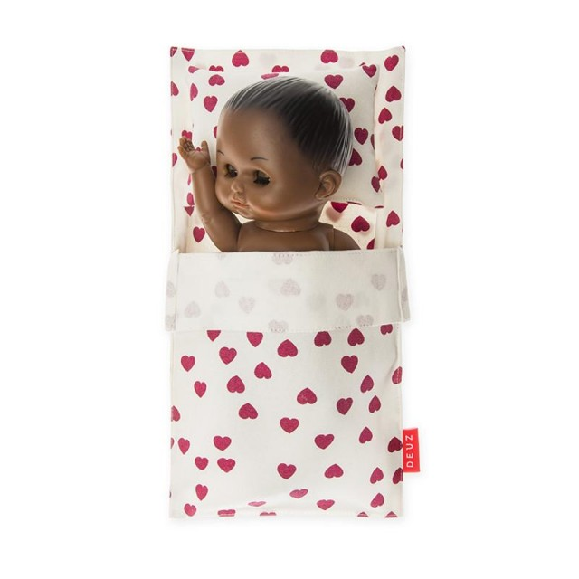DEUZ Κρεβατάκι Κούκλας Καρδούλες