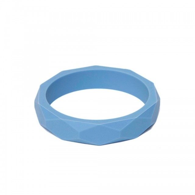 Lara & Ollie - Teething Bangle CORNFLOWER